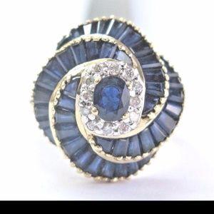 Le Vian 18Kt Gem Blue Sapphire & Diamond Yellow Go
